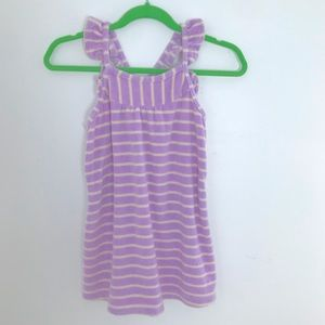 Hanna Andersson Terrycloth Sundress Striped Purple